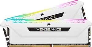 CORSAIR Vengeance RGB Pro SL 32GB (2x16GB) DDR4 3600 (PC4-28800) C18 1.35V Módulos de Memoria de Alto Rendimiento - Blanco