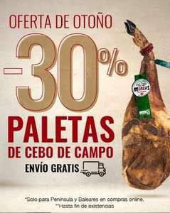 PALETA DE CEBO DE CAMPO, 50% RAZA IBÉRICA, 4 - 4,5 kg