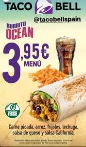 Menú Completo Burrito Ocean a 3.95 euros en Taco Bell