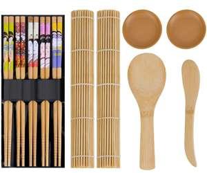 Kit para Hacer Sushi de Bambú. 11 piezas