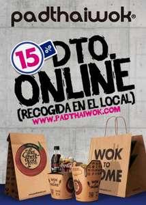 En Padthaiwok 15% De Descuento En Pedidos Online Para Recoger En Local ( Sin Pedido Minimo )