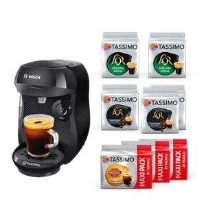 Cafetera Tassimo negra/roja + 8 packs Cafe