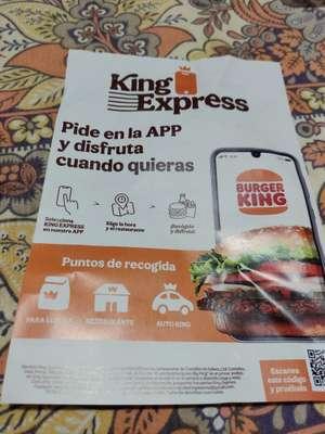 Big King a 1€ con la opción King express en la app de burger king (Primer pedido)