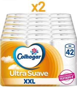 84 Rollos Papel Higiénico Doble Colhogar Ultra Suave XXL (a 0,29€ el rollo)