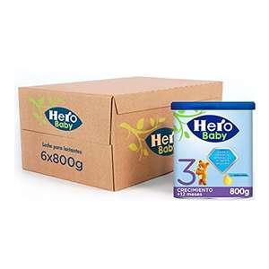 Pack de 6 botes de Leche de continuación 3 a partir de 12 meses Hero Baby (pack de 6 x 800 g)