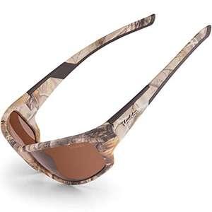 Gafas de sol polarizadas Marrones con Diseño de Camuflaje con Lentes de color Ámbar