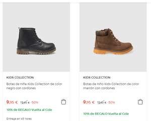 Botas y zapatillas de niños a 9,99€