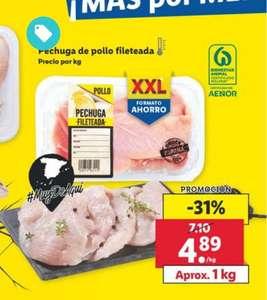 1KG de Pechuga Pollo fileteada por solo 4'89€