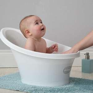 Bañera bebé Shnuggle con soporte de espuma en la espalda. De 0 a 12 meses.