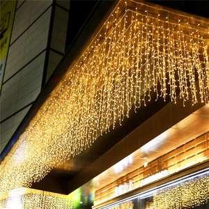 Cortina de luces LED exterior de 4'8m diferentes colores