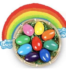 Crayones para Niños Pequeños, 9 Colores Surtidos Pintura Crayones de Huevo para Niños