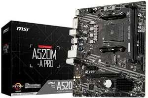 MSI Placa A520M-A Pro AMD AM4 DDR4 HDMI PCIE3.0 USB3.2 MATX