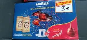 Pack Café Lavazza y bombones Lindt Lindor. (Mediamarkt de Elche)