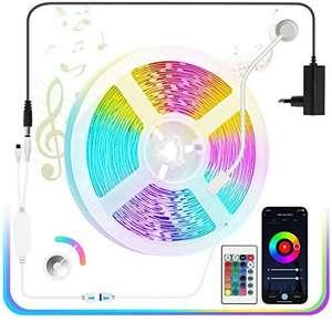 5 Metros Tira LED RGB 5050 Bluetooth APP Control Remoto 150 LED