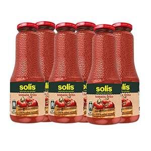 SOLIS Tomate Frito Frasco Cristal sin gluten - 725g - Pack de 6 - Total 4350 gams