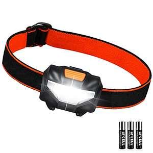 Linterna Frontal LED 3 Modos de Iluminación