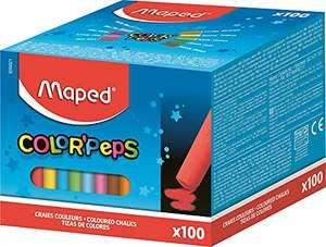 Caja de 100 tizas, colores surtidos