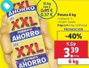 Bolsa de Patatas de 6 kg Categoría: I. Origen España por 3.39€