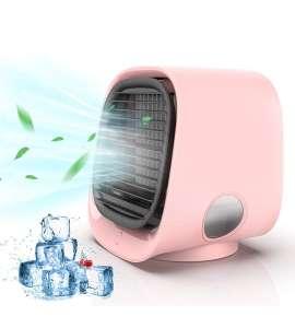 Aire acondicionado Portátil,Air cooler 4 en 1,Enfriador de Aire Móvil con LuzHumidificador