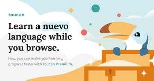 1 mes gratis de Toucan Premium (extensión de navegador para aprender idiomas)
