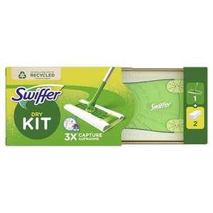 Swiffer Swiffer - Mopa de suelo (1 mopa + 2 paños secos, absorbe 3 veces más polvo y pelos, 368 g)