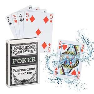 Cartas póker impermeables de plástico