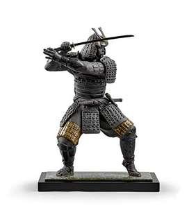 LLADRÓ Figura Guerrero Samurái de porcelana artesanal (60x44cm)