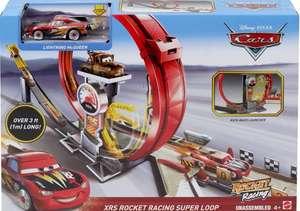 Disney Cars 3 pista de coches Super Looping XRS Rocket Racing ( Tb Carrefour)