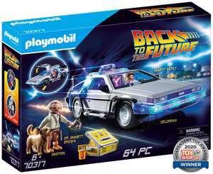 PLAYMOBIL- Back to The Future (Regreso al Futuro) DeLorean con Efectos de Luz.