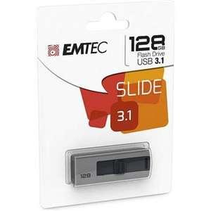 Pendrive Memoria USB 3.0 Emtec B250 128GB Gris