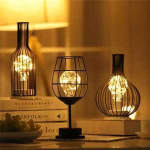 Lámparas LED de hierro forjado para mesa
