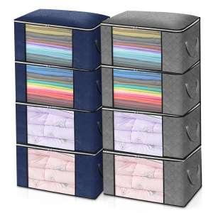 KING DO WAY 4 piezas bolsas de almacenamiento de ropa con cremallera
