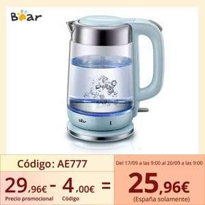 Bear Hervidor de agua eléctrico de 1,7L 1800W