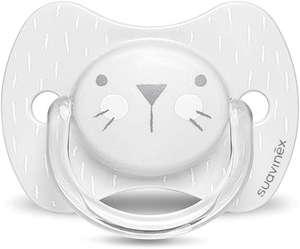 Suavinex Hygge Baby: Whiskers Chupete para Bebés con Tetina Fisiológica, 0-6 Meses, Gris
