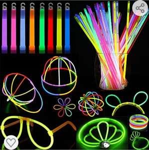 Barras Luminosas, 322 Juego de Varitas Luminosas Contiene 160 Palitos Luminosos, 150 Conectors,