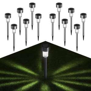 12 Pcs Inoxidable Luz Solar Exterior. (1.15€/unidad)