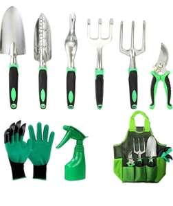 Kit de Jardinería Acero Inoxidable. 9 piezas