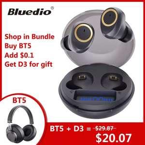 Auricular TWS Bluedio BT5 + aurixular bluetooth circumaural BT5