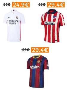 Descuentazos en camisetas futbol Primera Equipación 20/21 (desde España)