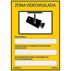Cartel Señal Zona Videovigilada PVC
