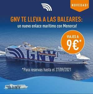 Viaja a Baleares por sólo 9€ (Trayecto) + Cancela Gratis ahora con nuevas rutas (Varios puertos)