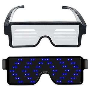 Gafas de fiesta, 164 luces LED, 11 animaciones dinamicas (Carga USB)