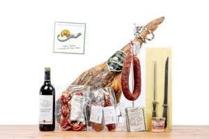 Lotazo Jamón + embutidos+ queso +cuchillo + vino