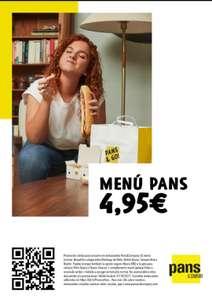 En Pans&Company menú completo de bocadillo,patatas o ensalada verde y bebida mediana a 4.95 euros