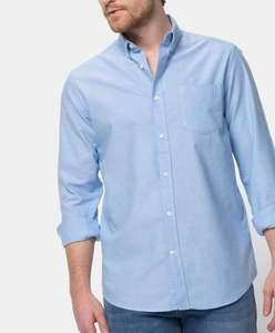 Camisa manga larga de algodón hombre tallas M, L, XL y XXL (blanca en descripción)