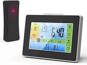 Estación meteorológica con sensor exterior, pantalla color, alimentación 5v, pantalla táctil