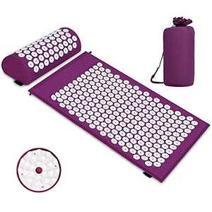 Esterilla de acupresión, Colchoneta de masaje con almohada para aliviar el dolor corporal y el estrés