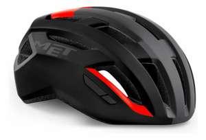 Casco para ciclismo de carretera MET VINCI MIPS Negro mate/Rojo