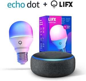 Altavoz inteligente echo Dot 3 generación+ bombilla inteligente multicolor envío gratis Amazon Prime