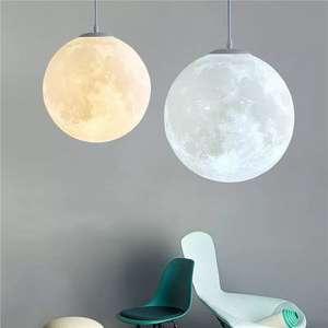 Lámpara techo luna 3D, varios tamaños y planetas